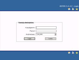 Haigla infosüsteemi login-vaade